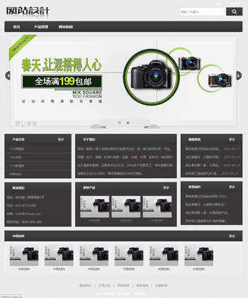 白灰色相机网站设计C