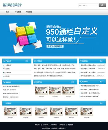 白蓝色培训网站设计C