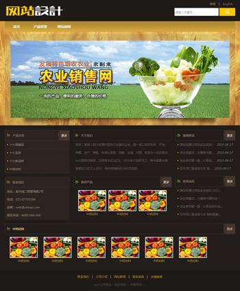 棕黄色农业网站设计D