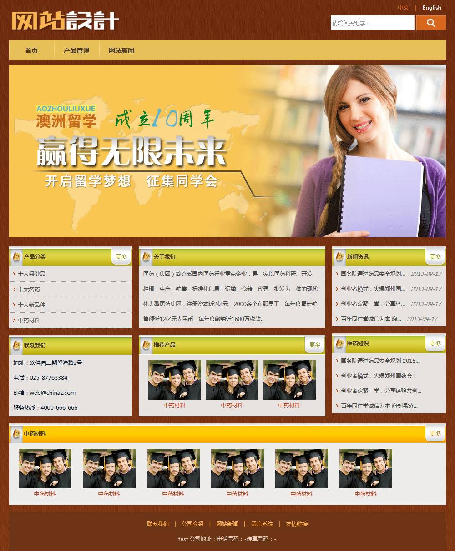 黄褐色培训留学网站设计D