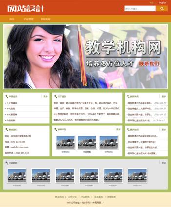 黄绿色培训网站设计D