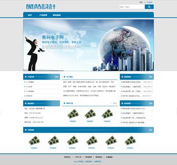 蓝白色电子数码网站设计D