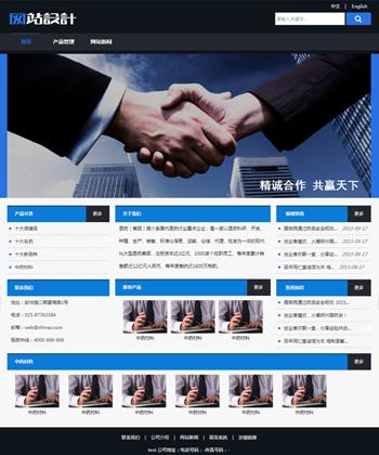 蓝黑色商务网站设计 Z
