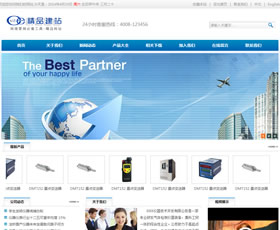 蓝色企业大气网站